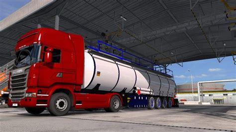 chrom cistern trailer  ets euro truck simulator  mods