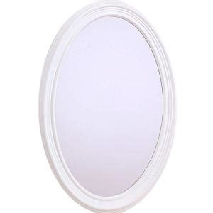 white oval bathroom mirror glacier bay napoli 31 in x 21 in oval mirror in white