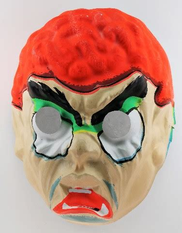 vintage topstone evil brain monster halloween creepy mask
