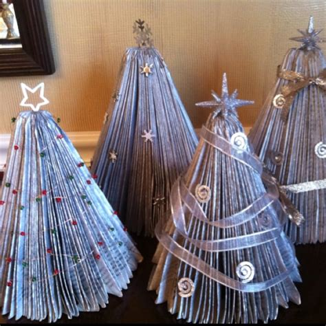 1000 images about book page christmas trees on pinterest
