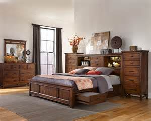 Bedroom Sets With Storage Intercon Storage Bedroom Set Wolf Creek Inwk Br 6190set