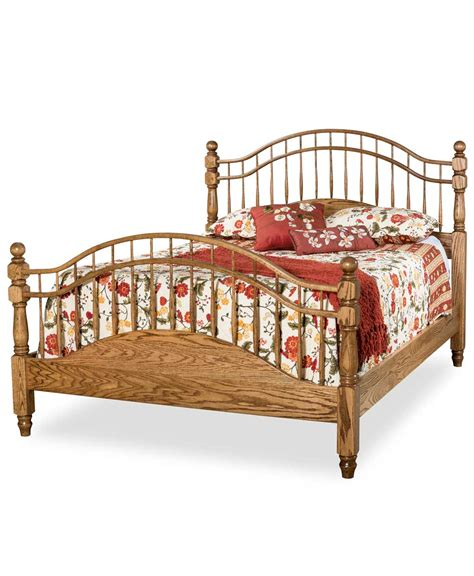 spindle bed double bow spindle bed amish direct furniture