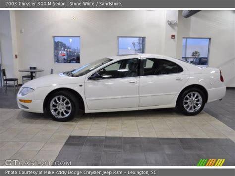white 2003 chrysler 300 m sedan sandstone
