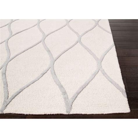 Jaipur Rugs Modern Geometric Pattern Ivory Gray Wool Area Modern Pattern Rugs