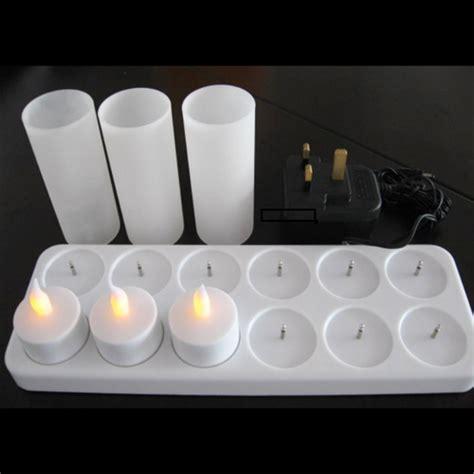 Set Size 2 7th Import set de 12 bougies 224 leds rechargeables sur grossiste