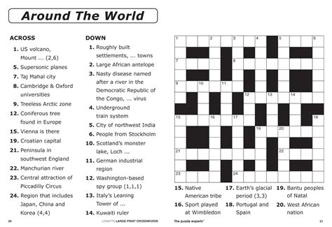 large print easy crossword puzzles printable large print crosswords magazine lovatts crossword
