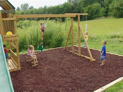 building a backyard playground how to build a backyard swing frame outdoor furniture