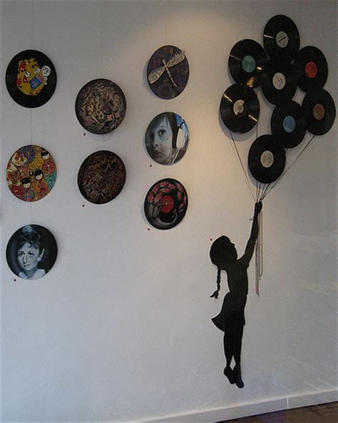 vinyl record room decor dishfunctional designs repurposed vinyl lp record album