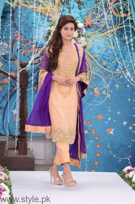 trendy bridal formal dresses at nida yasir s morning show