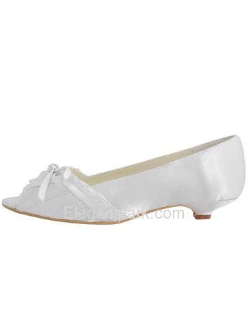 wedding shoes kitten heel with peep toe elegantpark peep toe bowknot kitten heel satin wedding
