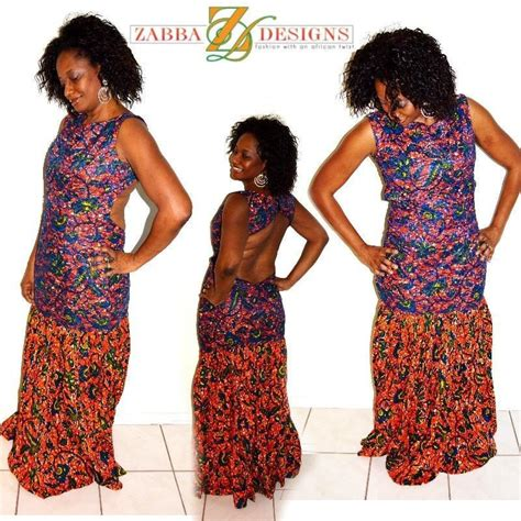 ankara african dress with lace blue lace and african ankara fabric evening dress