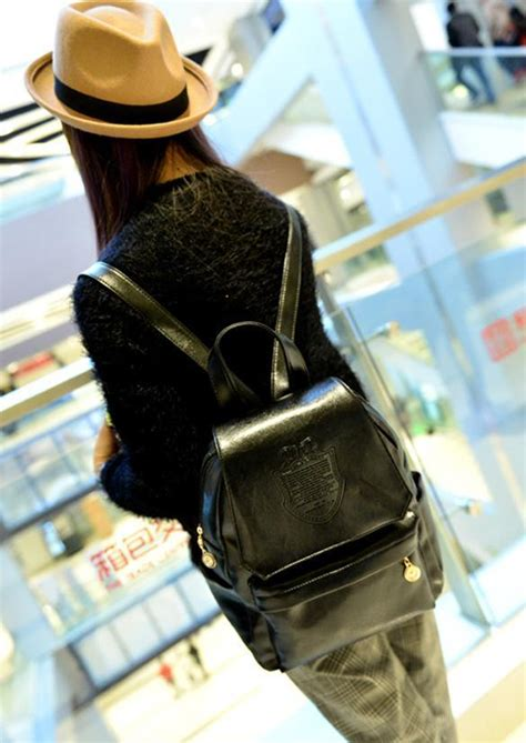 Paket Fashion Styles Brown cyber gaya eropa bergaya wanita tas ransel perempuan