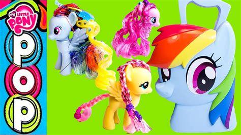 rainbow hairstyling rainbow dash hair styling my pony mlp estuche