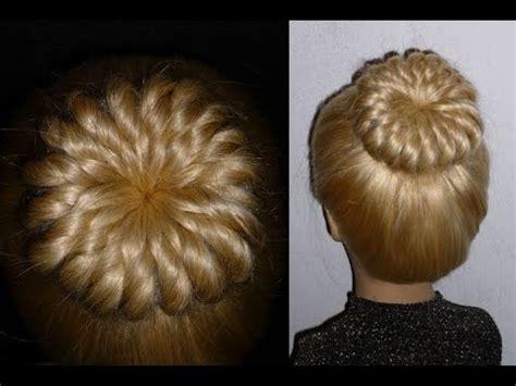 Donut Bun Hairstyles by Pinwheel Bun Hairstyle With Donut Prom Ballerina