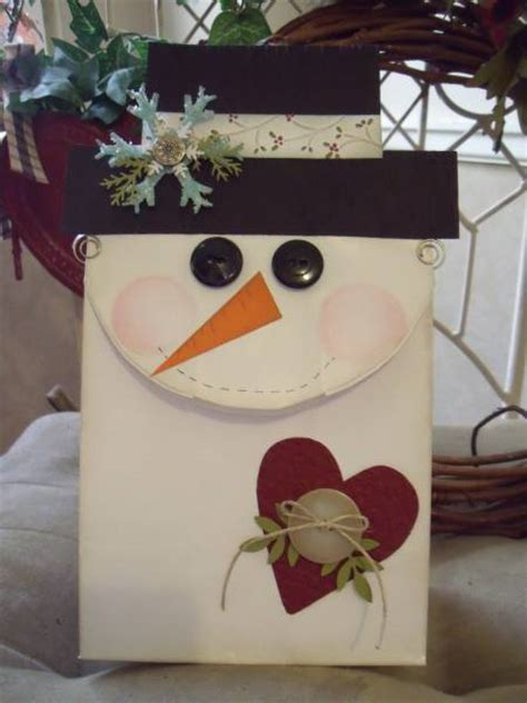 Paper Lunch Bag Crafts - lunch bag snowman by mitchygitchygoomy cards and paper