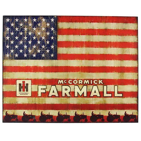 ih farmall usa flag wood plaque shopcaseih