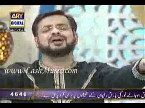 """download amir liaquat reciting naat """"mujhay dar pay phir"""