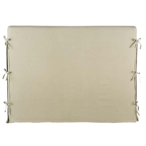 kopfteilbezug bett bett kopfteilbezug aus leinen b 142 cm beige