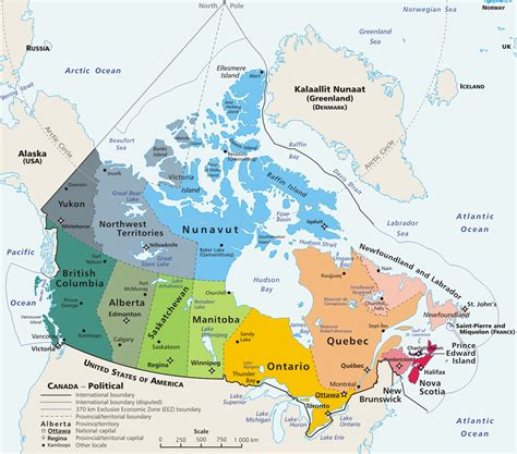 political map of canada history