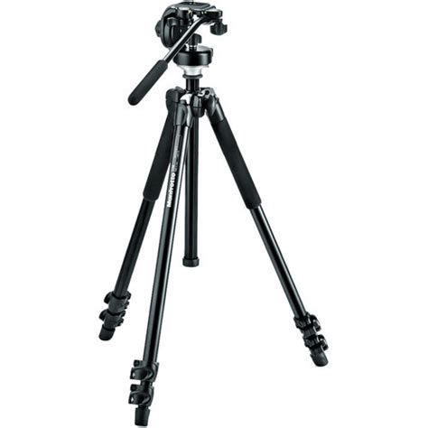 Manfrotto 294 Aluminum 3 Sections manfrotto mk294a3 128rc 3 section aluminum tripod