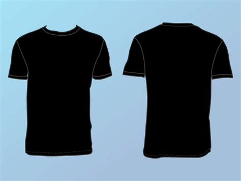 black t shirt template black t shirt template front and back clipart best