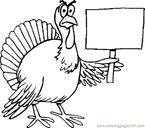 printable stand up turkey turkey protesting coloring page free thanksgiving day