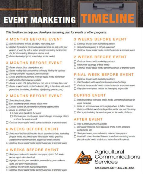 33 Timeline Templates In Pdf Sle Templates Event Marketing Timeline Template