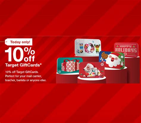 Target Gift Card 10 Off - 10 percent off target gift cards today only extreme christmas savings