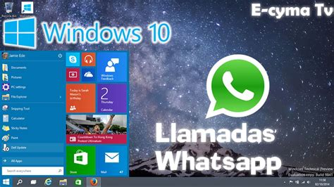 tutorial novedades windows 10 novedades de windows 10 activa las llamadas de whatsapp