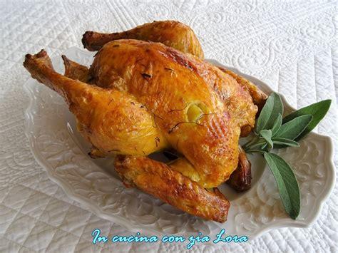 cucinare pollo intero pollo intero al forno saporito in cucina con zia lora