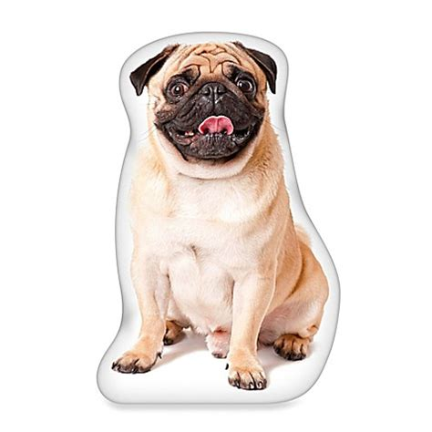 pug shaped buy ileesh pug shaped throw pillow in fawn from bed bath beyond