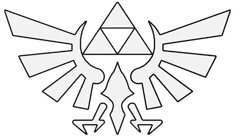 Zelda Triforce Coloring Page | glitter mint it s dangerous to go alone make this zelda