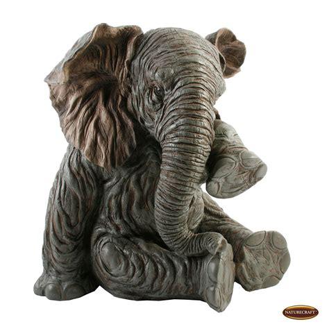Elephant Ornament - medium 35cm lifelike elephant ornament figurine