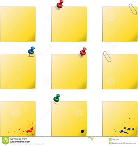 post it templates stock vector image of background