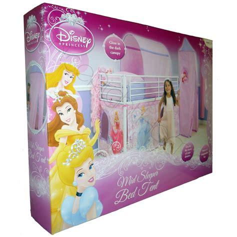 princess tent bed disney princess mid sleeper cabin bed tent free p p ebay