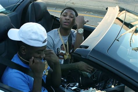 nba youngboy shares  video sidewalk hustle