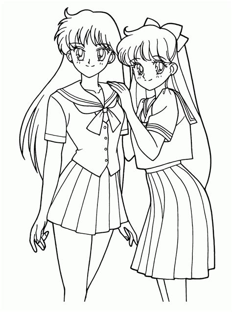 Coloring Pages Anime Coloring Pages Free And Printable Anime Coloring Pages