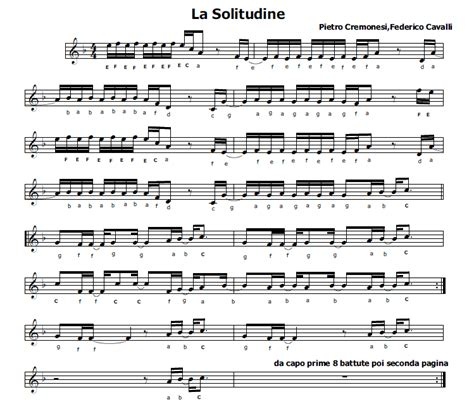 testo la solitudine musica e spartiti gratis per flauto dolce la solitudine
