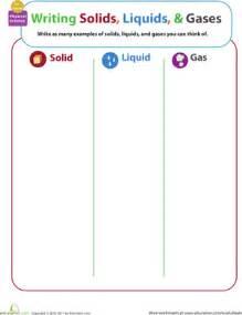 matter mixup writing solids liquids and gases