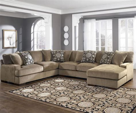 u shaped couch living room furniture furnitures u shape sectional by ashley furniture