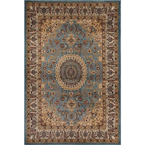 home world rugs world rug gallery traditional medallion design blue 5 ft 3 in x 7 ft 3 in indoor