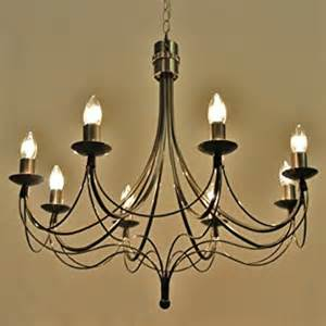 Wrought Iron Chandeliers Uk The Quot Casterton Quot Collection 8 Arm Wrought Iron Candle Chandelier Co Uk Lighting
