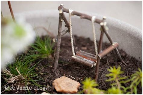 how to build a russian swing spring nature study fairy garden see jamie blog