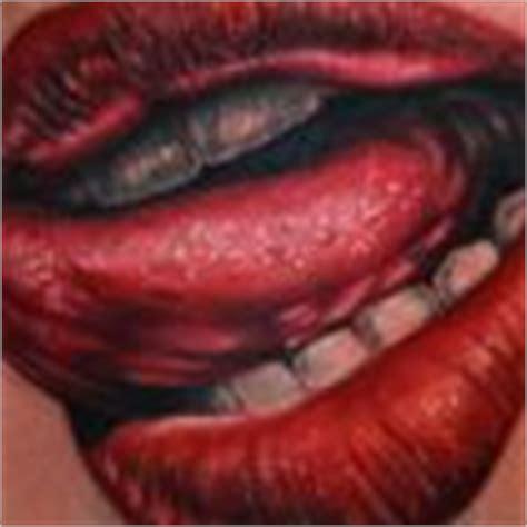 tattoo of lips and tongue mouth tattoos tattooers net