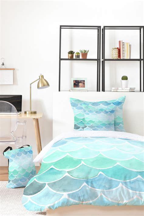 mermaid bedding set mermaid scales bed in a bag watercolor bedding set