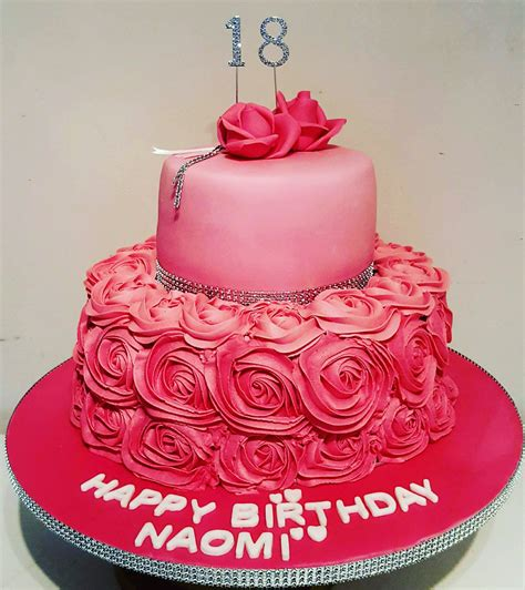 18th Birthday Cakes by 18th Birthday Cake With Buttercream Roses Gallery 2