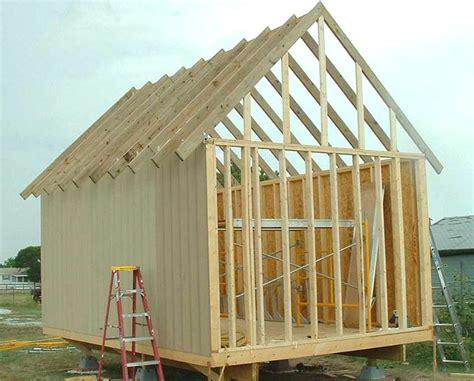 owner built cabin  storage shed