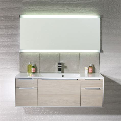 illuminated mirror bathroom roper rhodes transcend fluorescent illuminated mirror