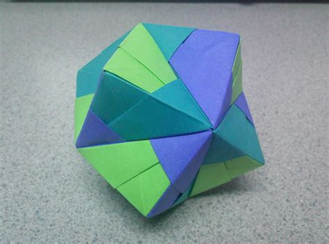 Origami Stellated Octahedron Side By Theorigamiarchitect