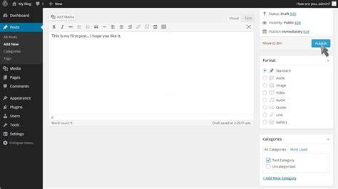wordpress tutorial new post how to write a new post in wordpress fastwebhost